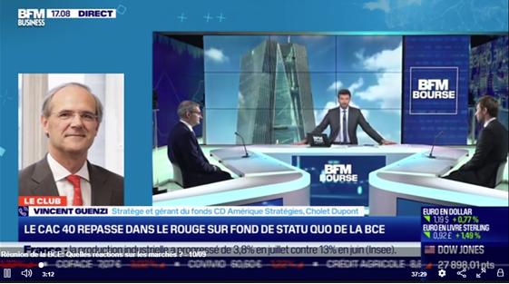 Les réactions sur les marchés après la réunion de la BCE avec Vincent Guenzi